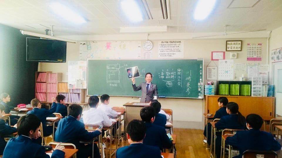 生徒たちと話ができて楽しかった