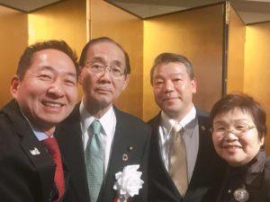 原田大臣ご夫妻と写真をご一緒させて頂きました。大臣にかぶり気味で申し訳ございません!
